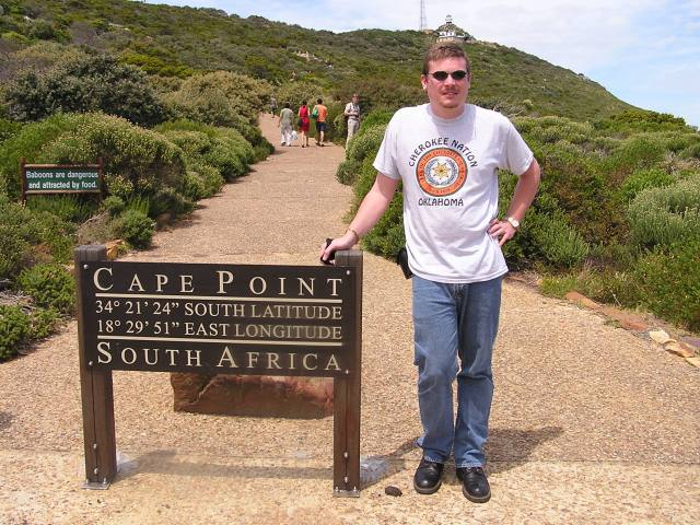 Me at Cape Point, South Africa. 2005