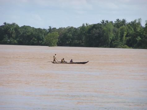 Mekong River in flood. Near Kratie, Cambodia. 2006.