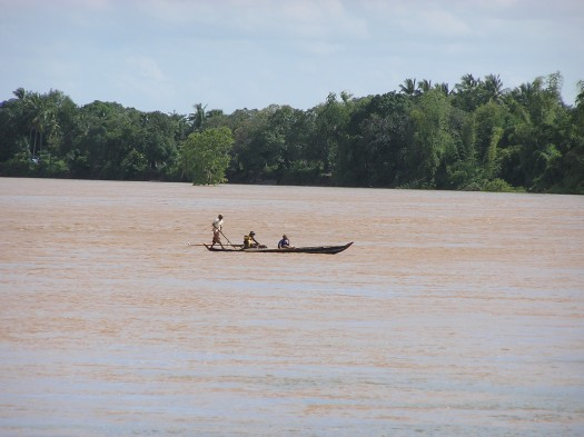 Mekong River in flood. Near Kratie, Cambodia. 2006.