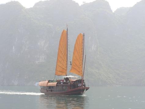 Tourist boat, Ha Long Bay, Vietnam. 2006