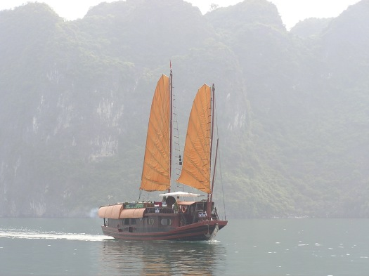 Tourist boat, Ha Long Bay, Vietnam. 2006