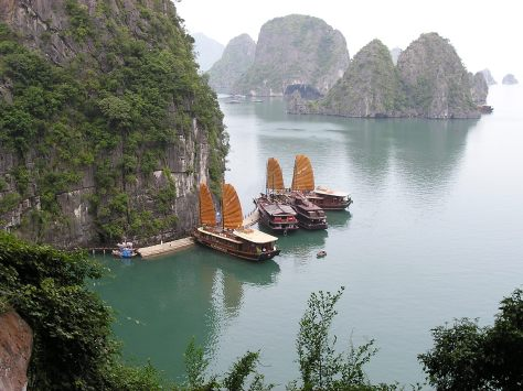 Boats in Ha Long Bay, Vietnam. 2006