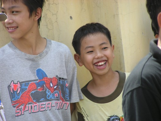 Vietnamese children near Hanoi, 2006.