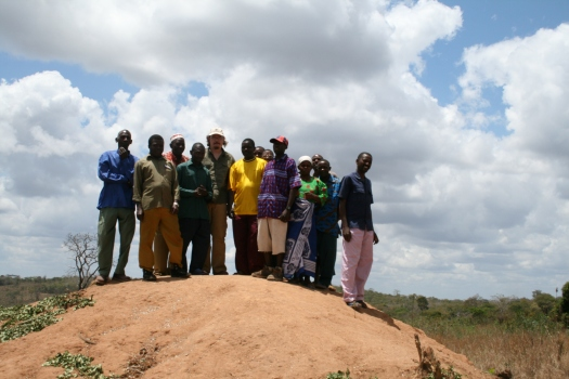 Me with residents of Mpiga Miti village, near Selous Game Reserve, Tanzania. 2007