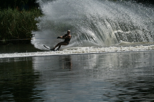 Water skier, Benoni Lake, Johannesburg, South Africa. 2008.