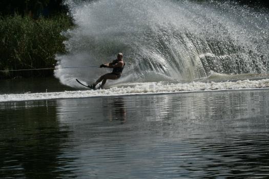 Water skier, Benoni Lake, Johannesburg, South Africa. 2008.