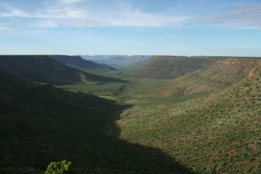 Klip River Valley from Grootberg Plateau. Namibia 2008.