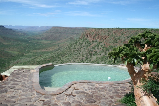 Endless pool view of Klip River Valley, Grootberg Plateau. Namibia. 2008.
