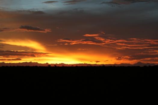 Sunset, Grootberg Plateau, Namibia. 2008.