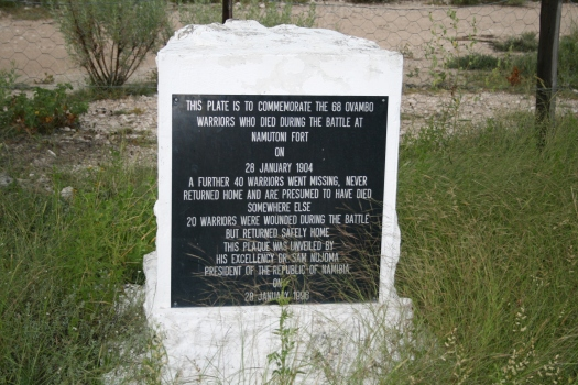 Memorial of Ovambo Massacre, Etosha, Namibia.