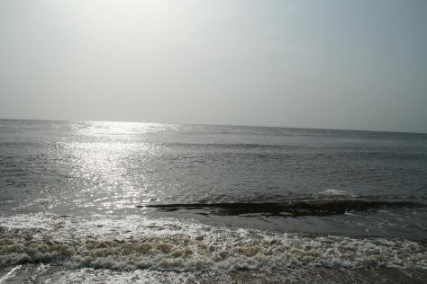 Atlantic Ocean at the Gulf of Guinea, near Kribi, Cameroon.