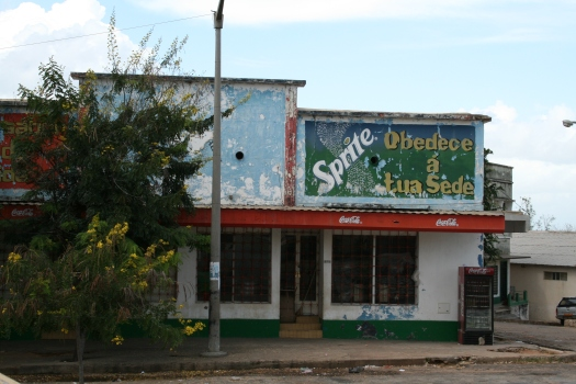 Obey your thirst! Storefront in Pemba, Mozambique.