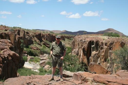 Me at a desert oasis in Kunene Region, Namibia