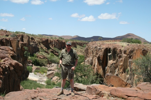Me at a desert oasis in Kunene Region, Namibia