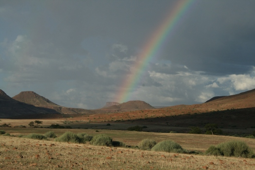 Rainbow in Palmwag Concession, Namibia